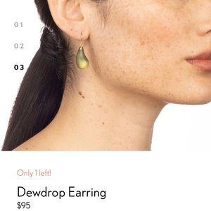 Alexis Bittar Dewdrop Earrings-Light Sage